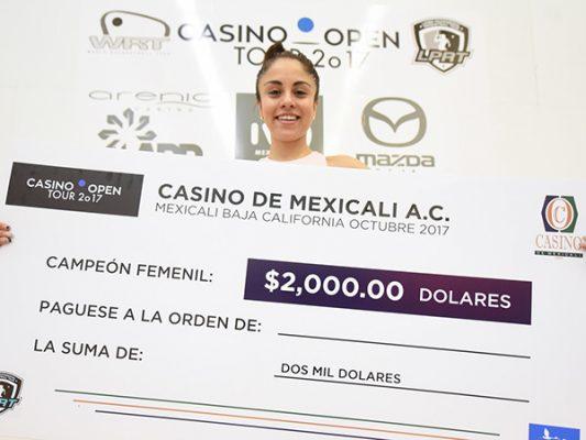 Paola Longoria Casino Open 2017 Racquetball Champion