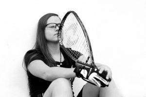 Cristina Amaya with Gearbox Racquet