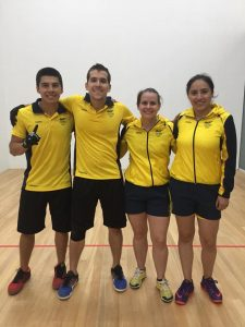 Colombian Racquetball Players At Bolivarian Games 2017