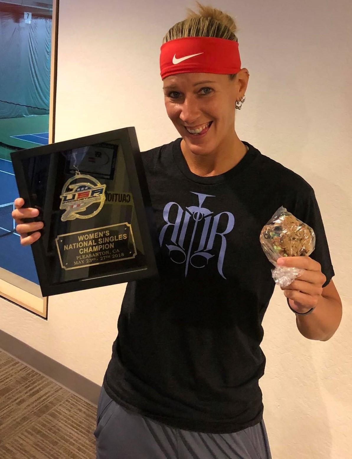 Rhonda Rajsich USA Racquetball National Champion 2018
