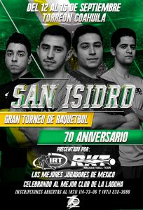 San Isidro 70th Anniversary Racquetball Tournament