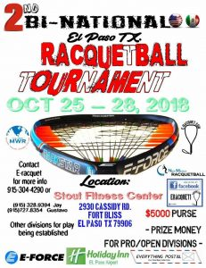 2nd Bi-National Racquetball Tournament El Paso