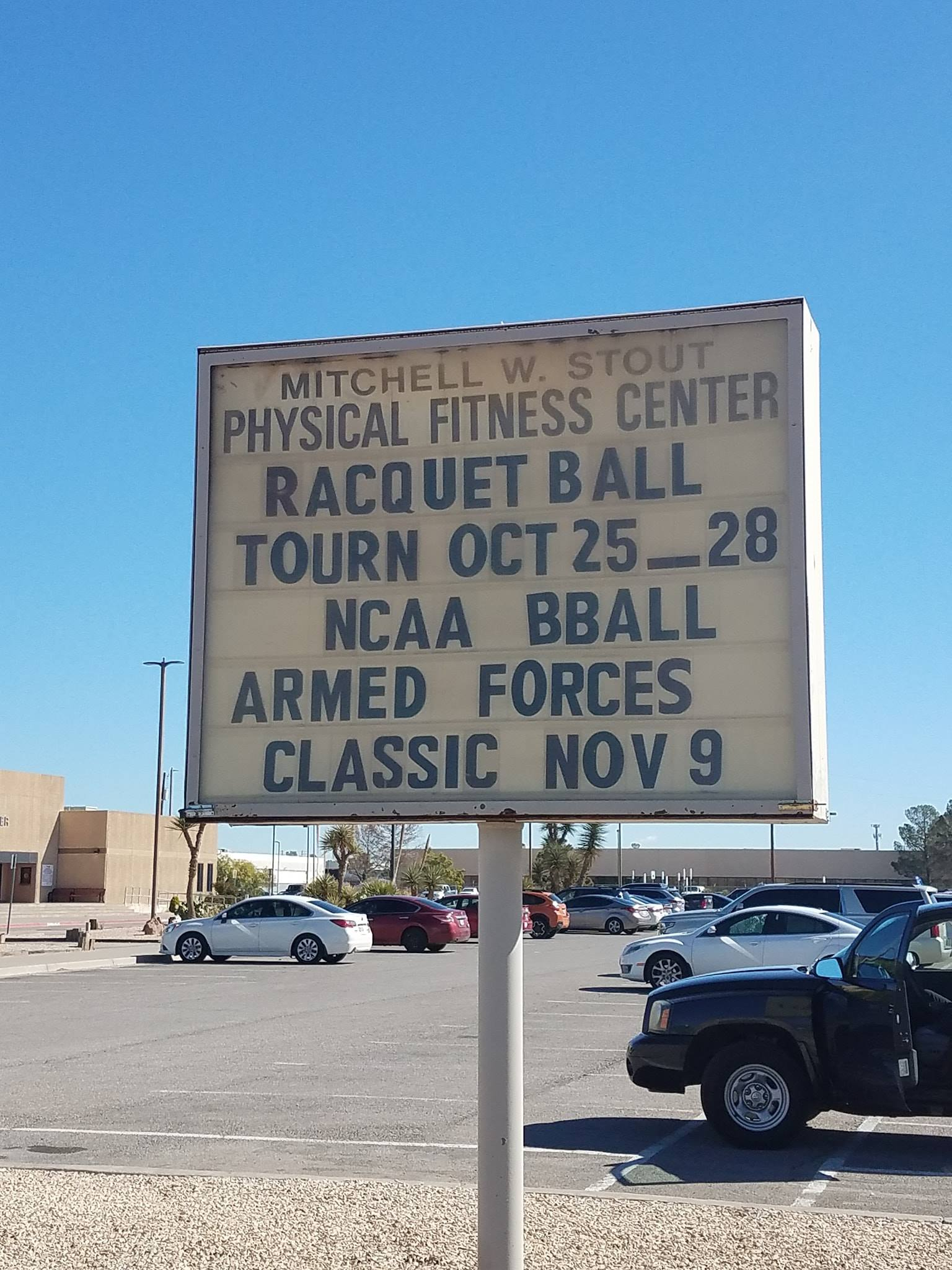 IRF At Fort Bliss 2018 Racquetball Tournament