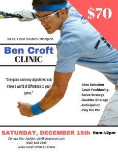 Ben Croft Racquetball Clinic Chicago Area