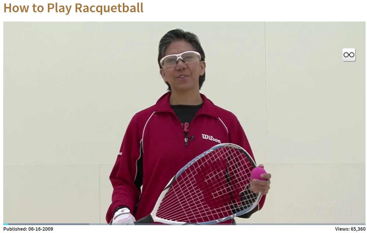 Malia Bailey Racquetball VIdeo Series