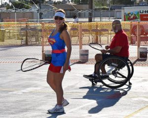 Vicki Onesti And Dave V Military Racquetball Rehabilitation Event