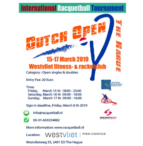 Dutch Open 2019 Racquetball Tournament