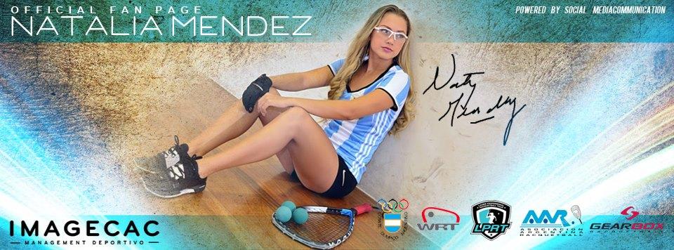 Natalia Mendez Racquetball Banner