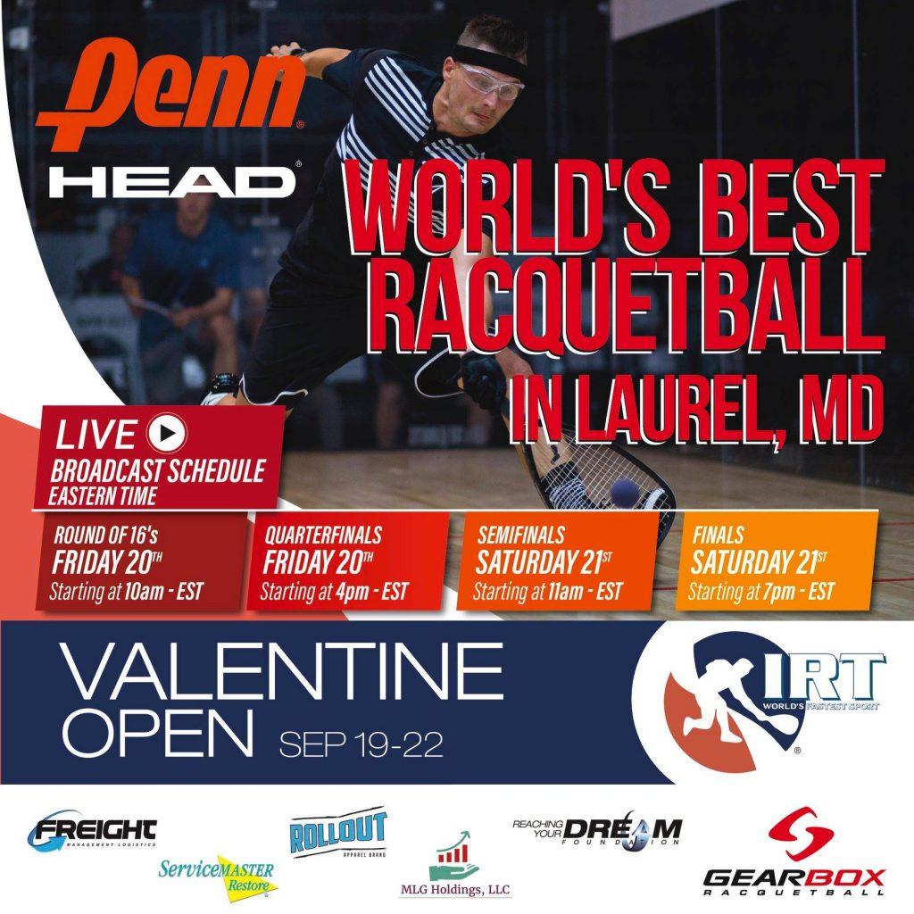 IRT Valentine Open 2019 Broadcast Schedule