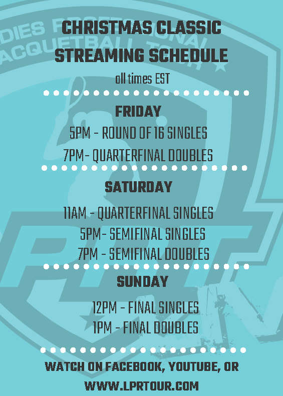 LPRT 28th Annual Christmas Classic Broadcast Schedule