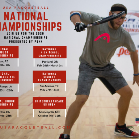 USA Racquetball 2020 Schedule