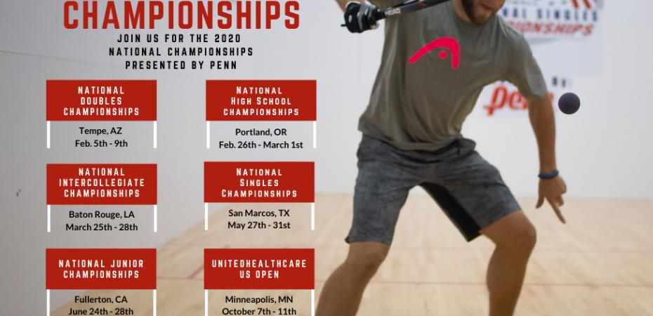 USA Racquetball 2020 Schedule