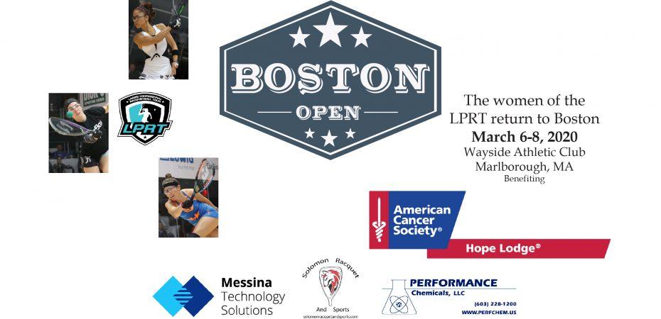2020 Boston Open Ladies Professional Racquetball Tour