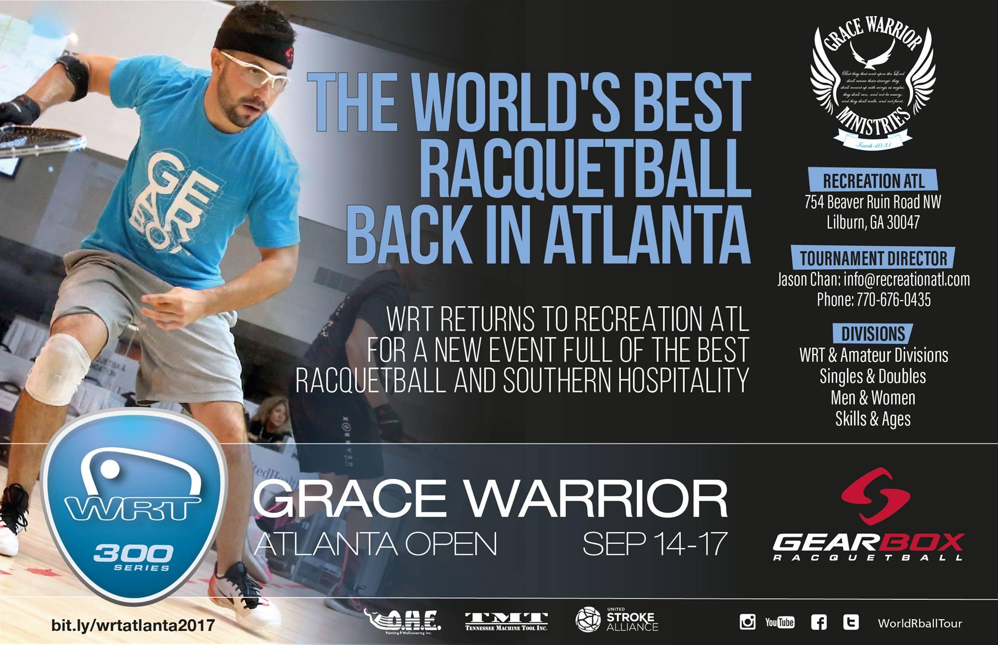 World Racquetball Tour Grace Warrior Atlanta Open 2017