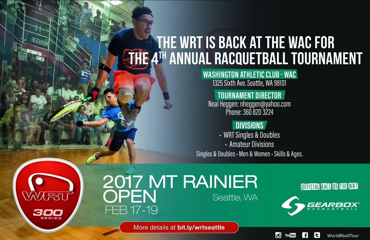 World Racquetball Tour Mount Ranier Open 2017