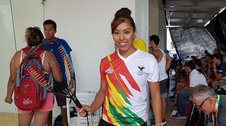 Pro Racquetball Player Jenny Daza At The Bolivarian Games in Colombia