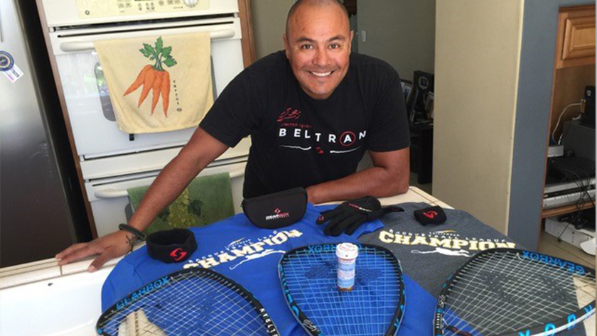 Ulisses Palafox at Gearbox Racquetball
