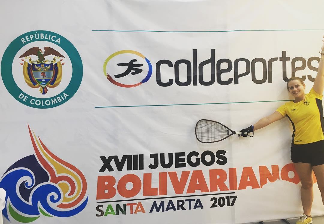 xviii juegos bolivarianos racquetball cristina amaya