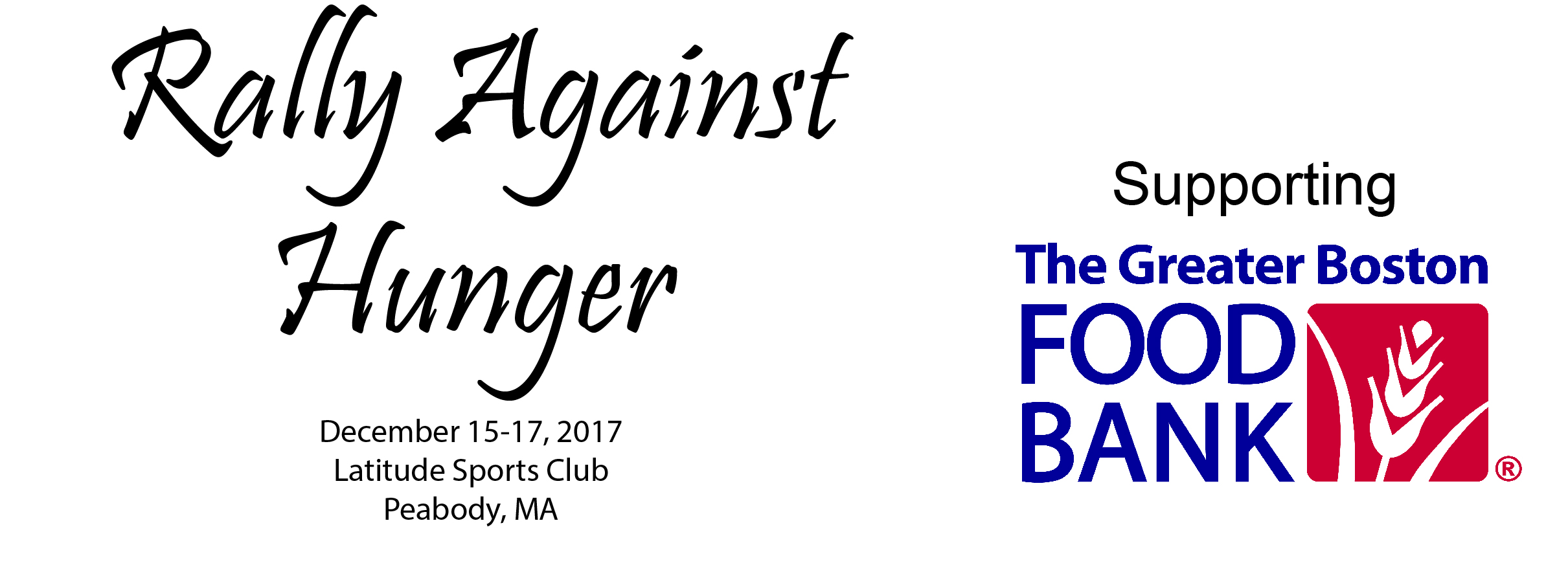 2017 Rally Against Hunger Racquetball Tournament