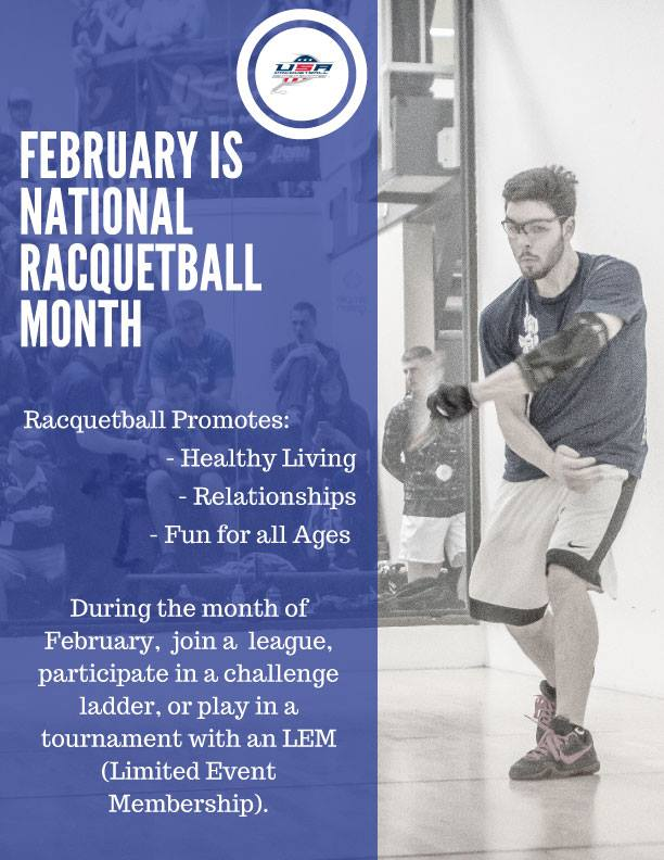 February National Racquetball Month