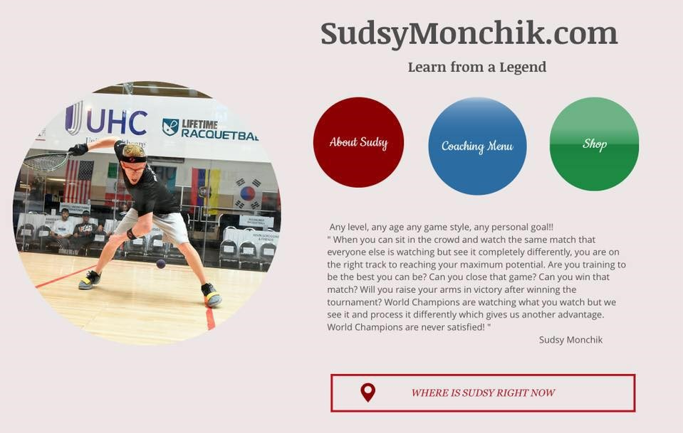 SudsyMonchik.com Racquetball Graphic