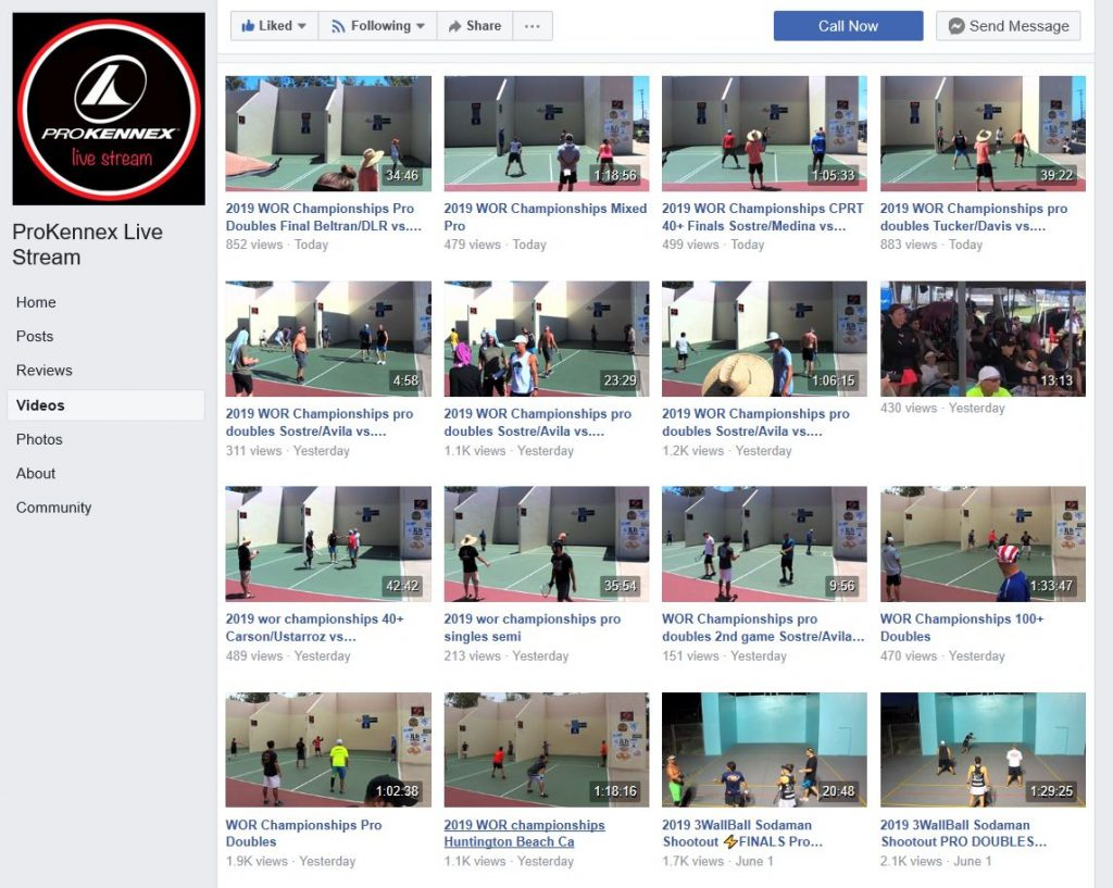 Outdoor Racquetball Championships 2019 ProKennex Live Stream