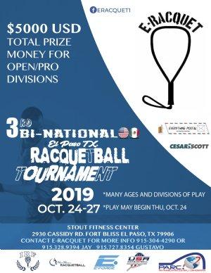 3rd Bi National Racquetball Tournament